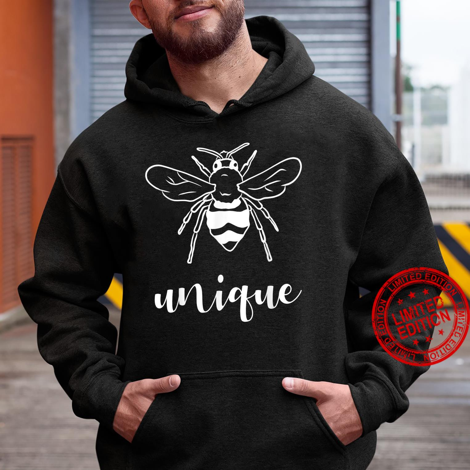 Bee Unique Shirt Cool Be Unique Different Bee Pun Shirt hoodie