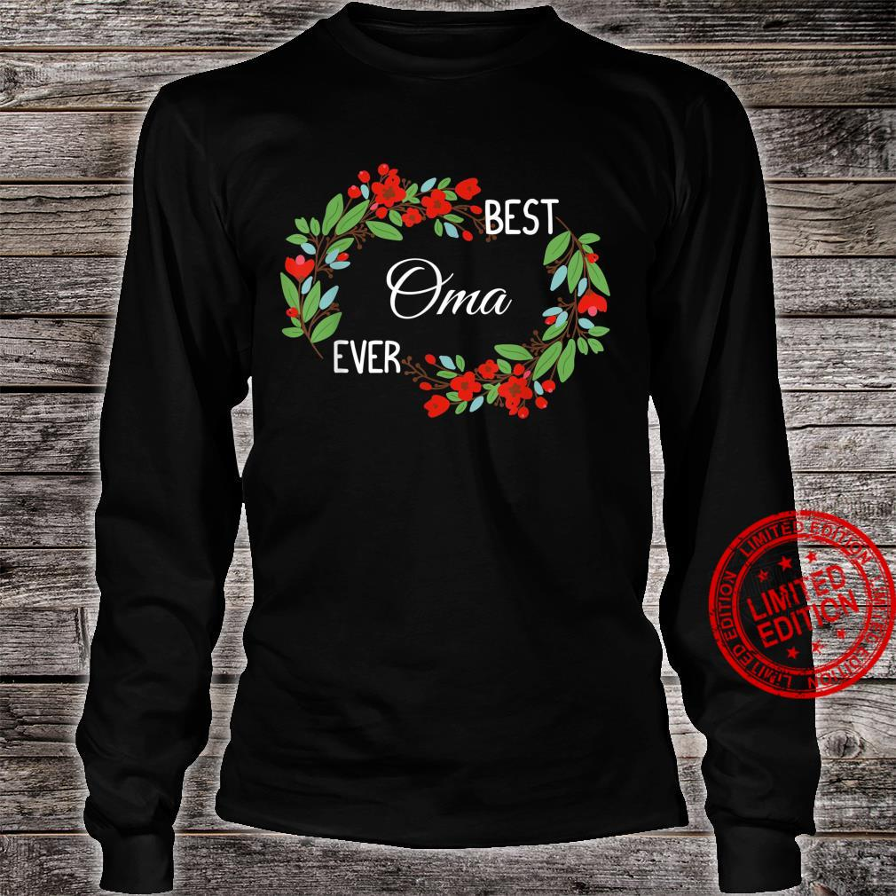 Best Oma Ever German Grandmother Mother's Day Flowers Shirt long sleeved