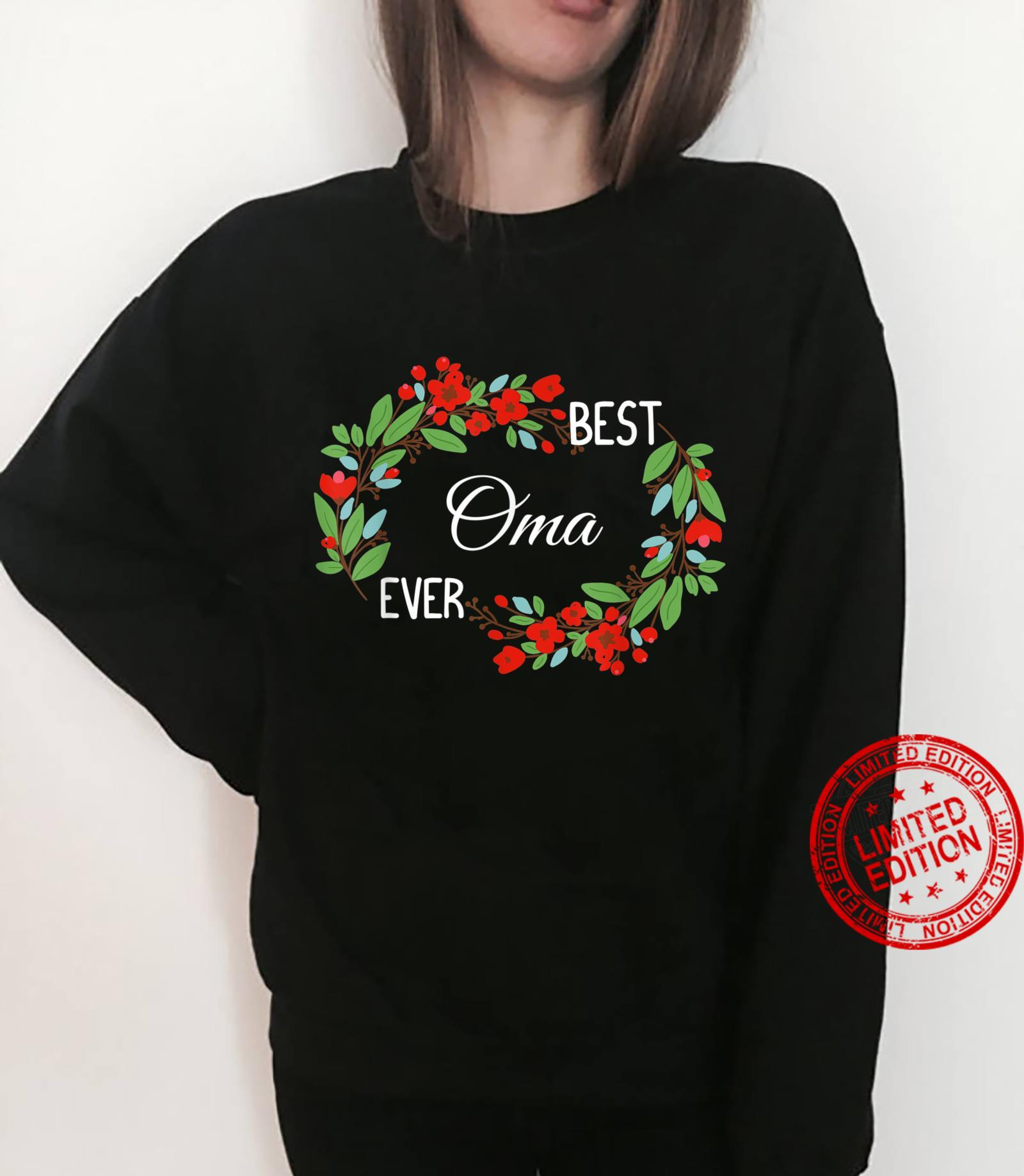 Best Oma Ever German Grandmother Mother's Day Flowers Shirt sweater