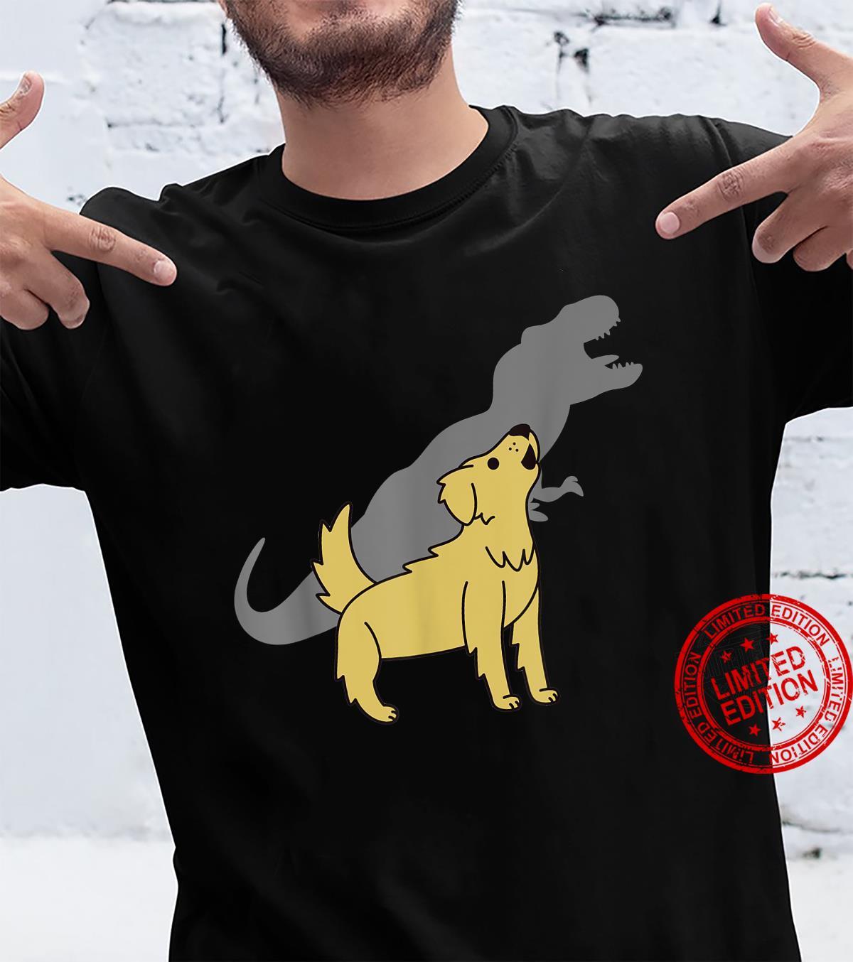 Howling TRex Dinosaur Golden Retriever Hund Shirt