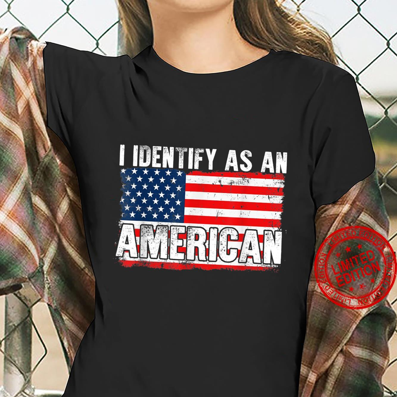 I Identify As An American 4th Of July Shirt ladies tee
