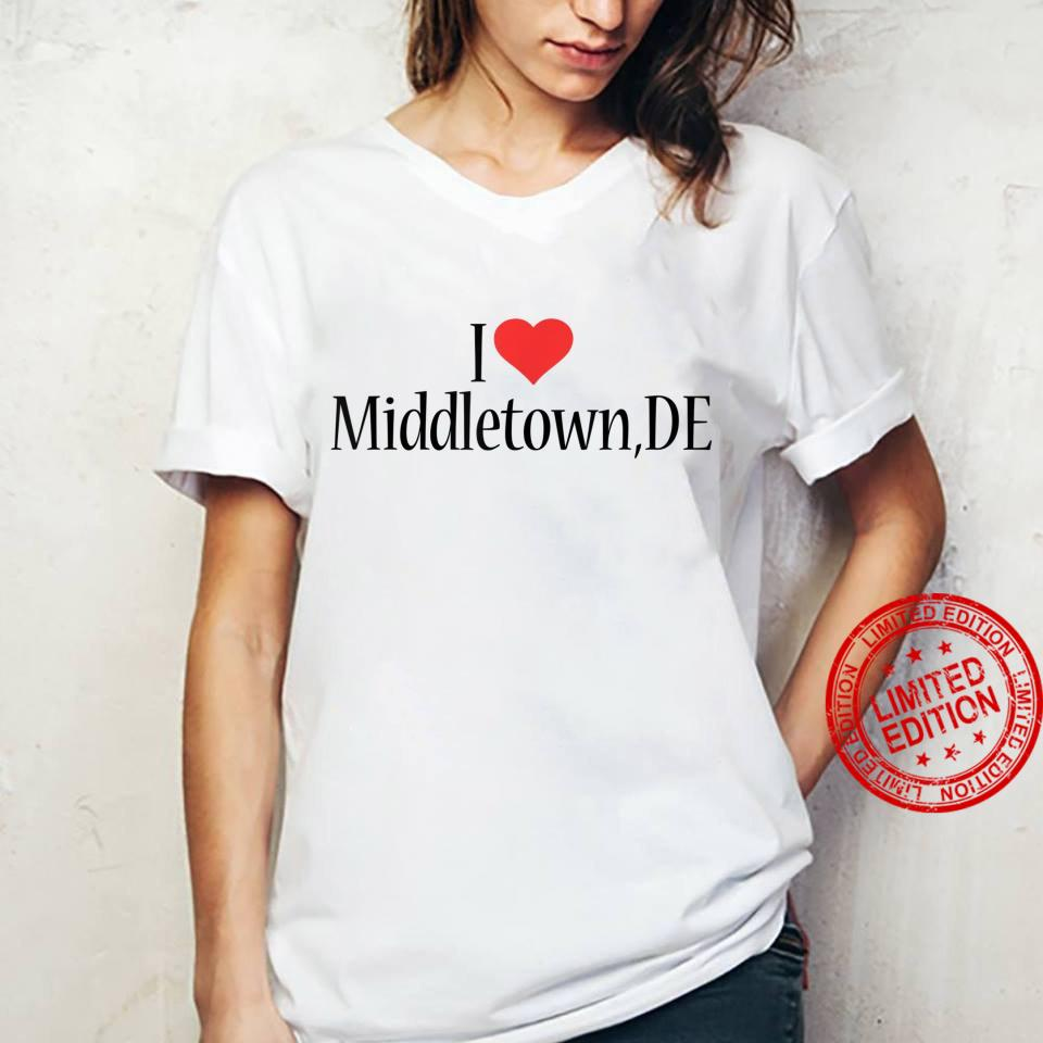 I Love Middletown DELAWARE Heart City State Combination Shirt ladies tee