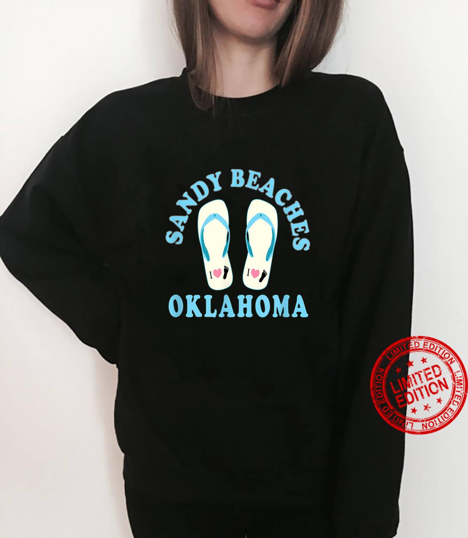 Oklahoma Vacation Sandy Beaches I Heart Flip Flops Shirt sweater