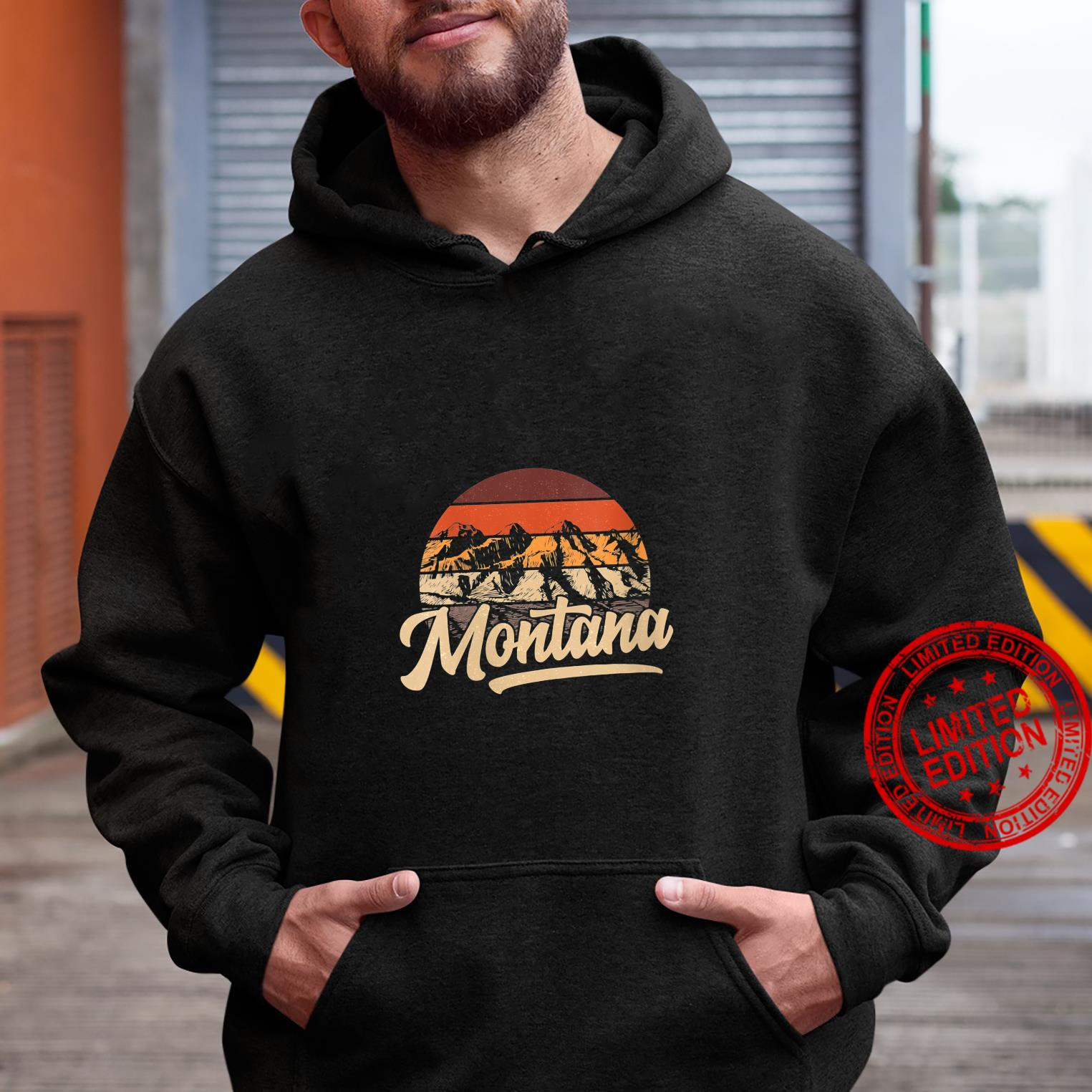 Womens State of Montana Mountain sunset casual outdoor Shirt hoodie