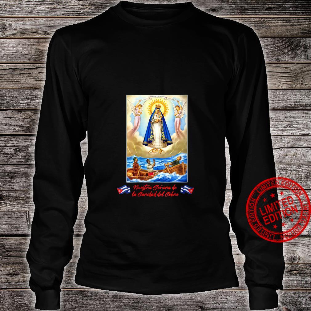 Womens Virgen de la Caridad del Cobre, Nuestra Senora Shirt long sleeved