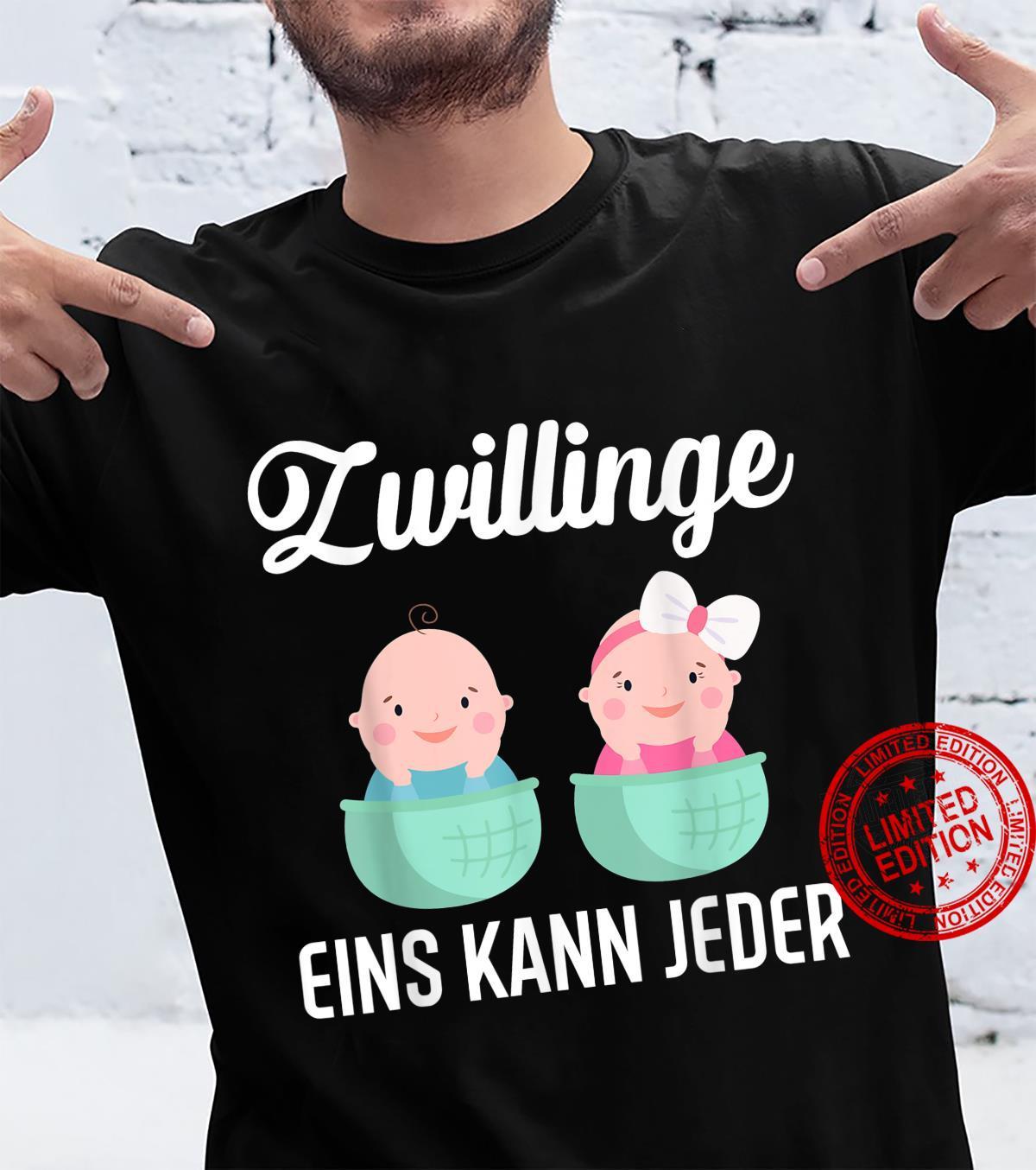 Zwillinge eins kann jeder Welt Cool Mama Kleidung Dad Witzig Shirt
