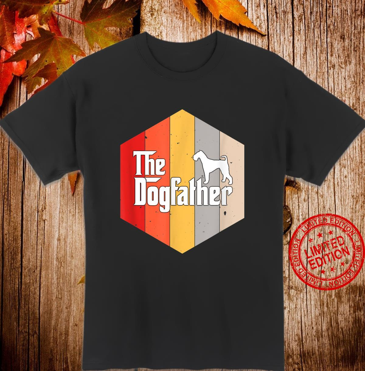 Airedale Terrier Retro Vintage Dog Father Shirt