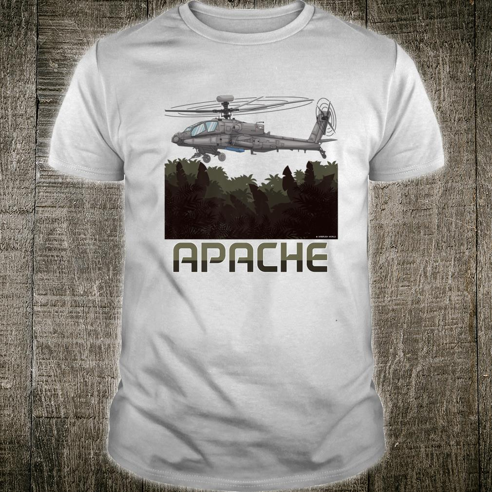Apache Helicopter Military Armed Forces Novelty Shirt