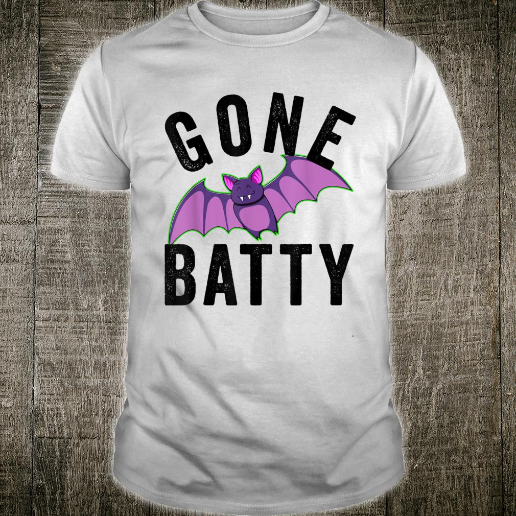 Awesome Halloween Party Theme Gone Batty Design Shirt