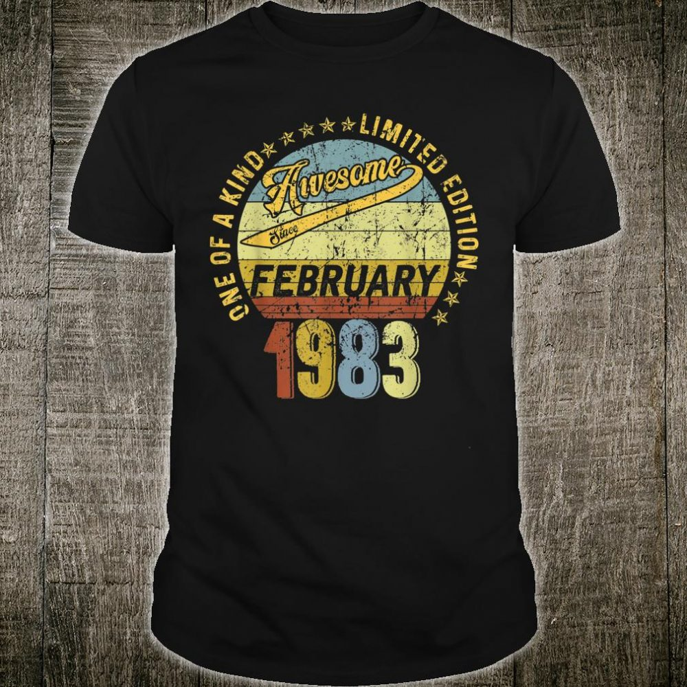 Awesome since February 1983 37th birthday 37 years old Shirt