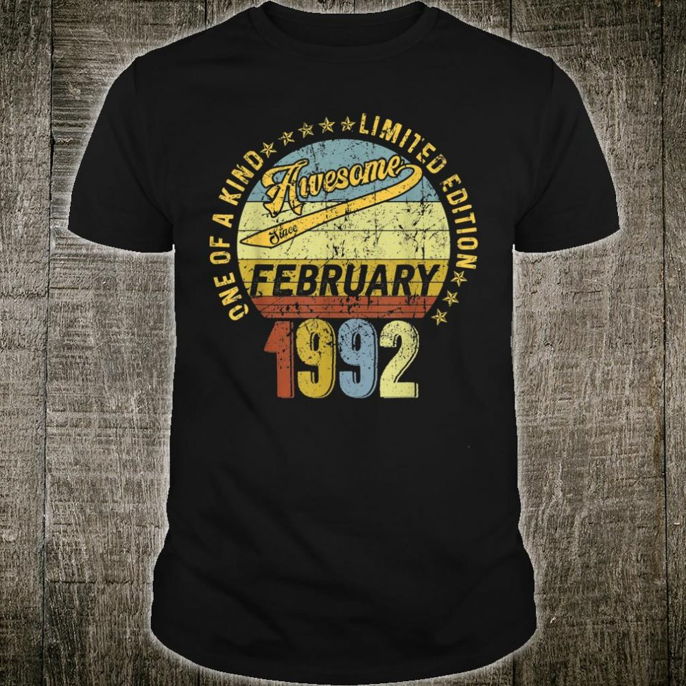 Awesome since February 1992 28th birthday 28 years old Shirt
