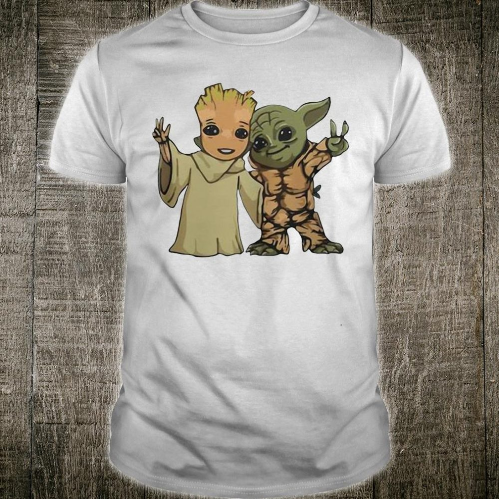 Baby Groot and Baby Yoda friends shirt