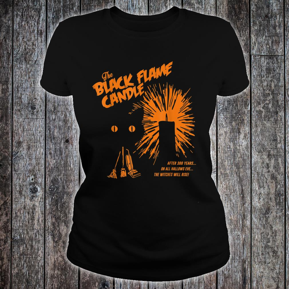 Black Flame Candle Halloween Shirt ladies tee