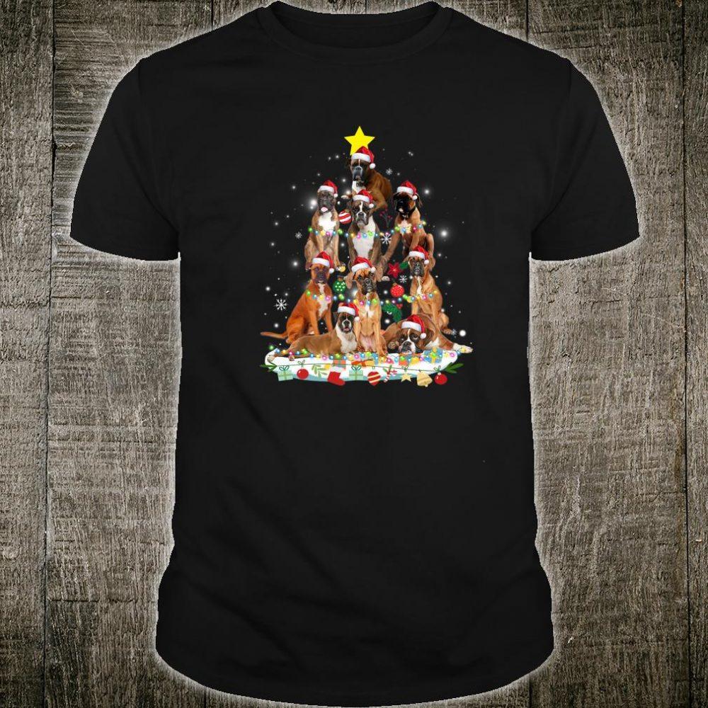 Boxer Christmas Tree Dog Christmas Pajamas Shirt