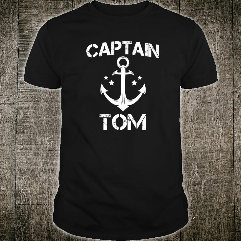 CAPTAIN TOM Birthday Personalized Name Boat Shirt