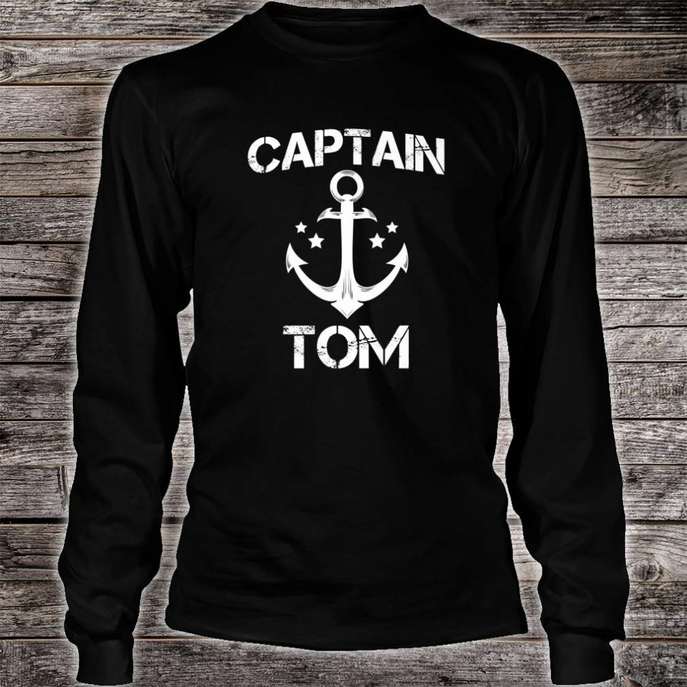 CAPTAIN TOM Birthday Personalized Name Boat Shirt long sleeved