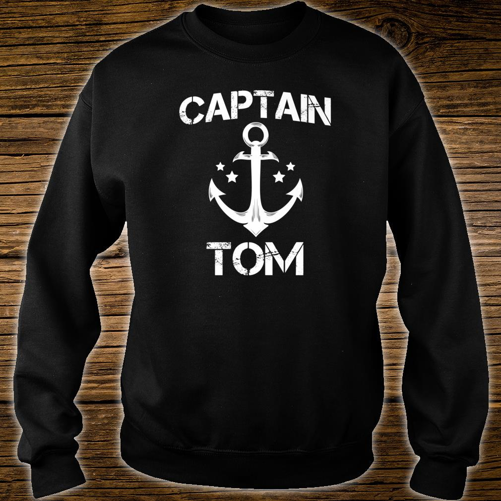 CAPTAIN TOM Birthday Personalized Name Boat Shirt sweater