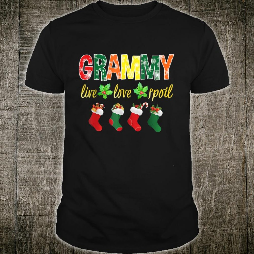 Christmas Grammy Live Love Spoil Santa Socks Grammy Shirt