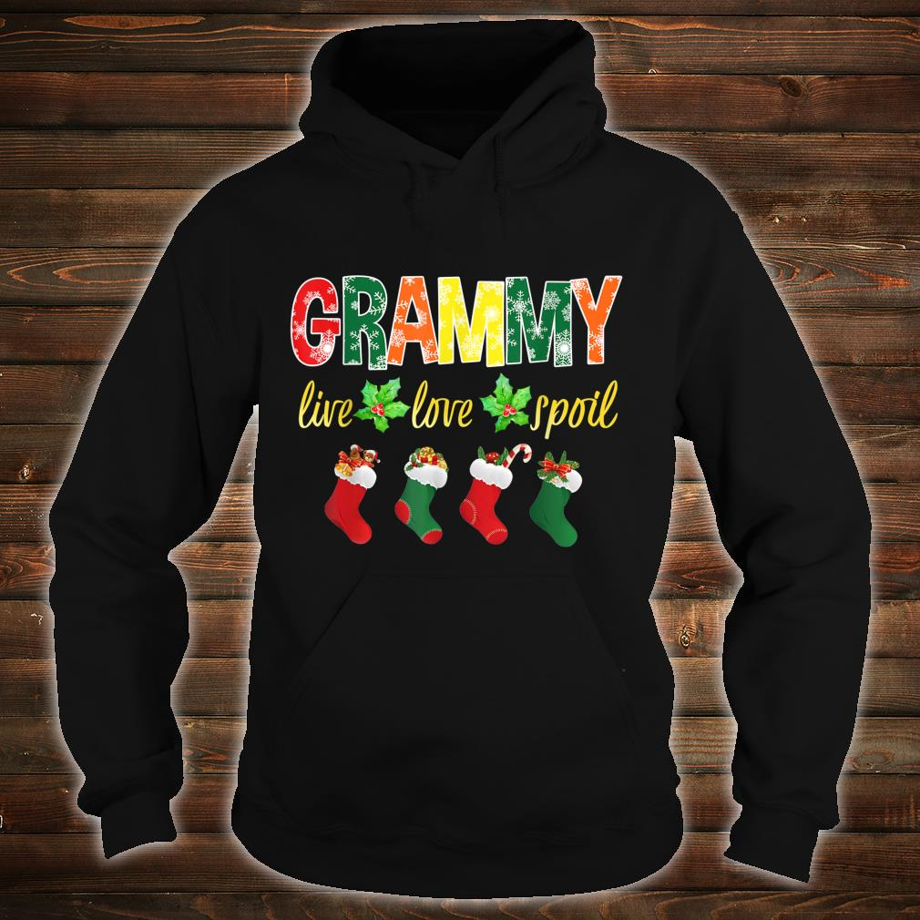 Christmas Grammy Live Love Spoil Santa Socks Grammy Shirt hoodie