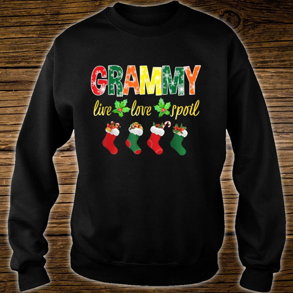 Christmas Grammy Live Love Spoil Santa Socks Grammy Shirt sweater