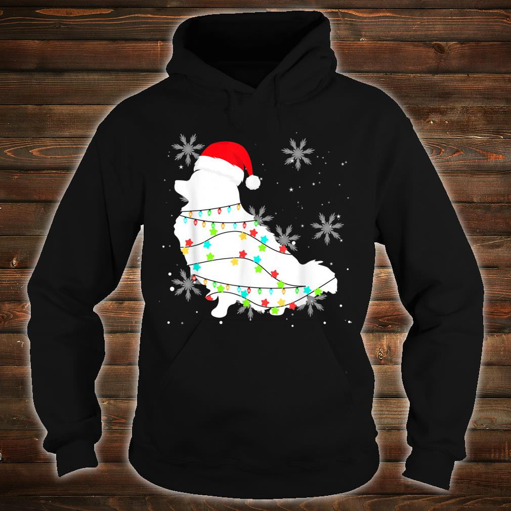 Christmas Lights Pomeranian Dog Shirt hoodie