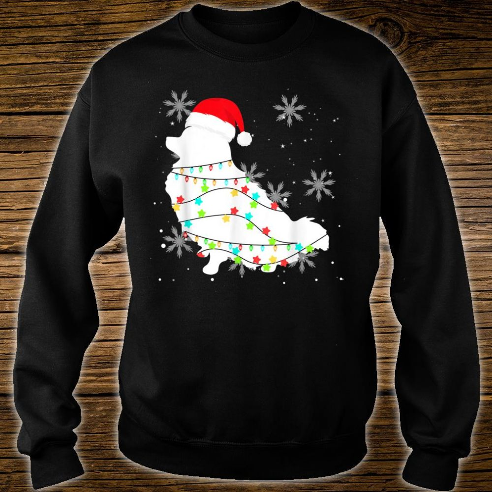Christmas Lights Pomeranian Dog Shirt sweater