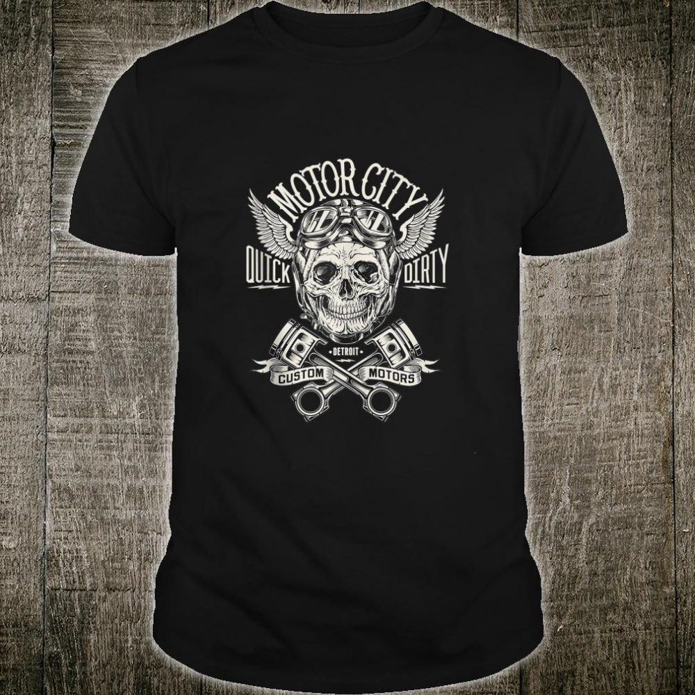 Detroit Skull Motor City Cruise Woodward Hot Rod Shirt