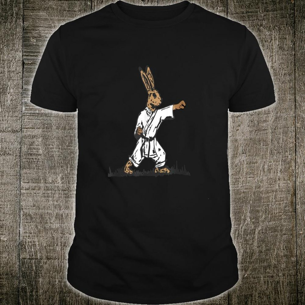 Easter Chocolate Bunny In Karate Gi Shirt