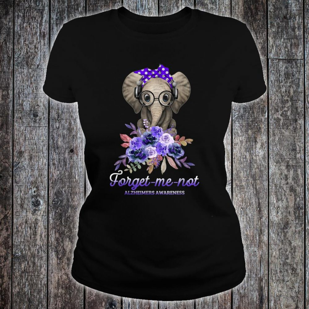 Elephant forget me not Alzheimers Awareness Hippie Shirt ladies tee
