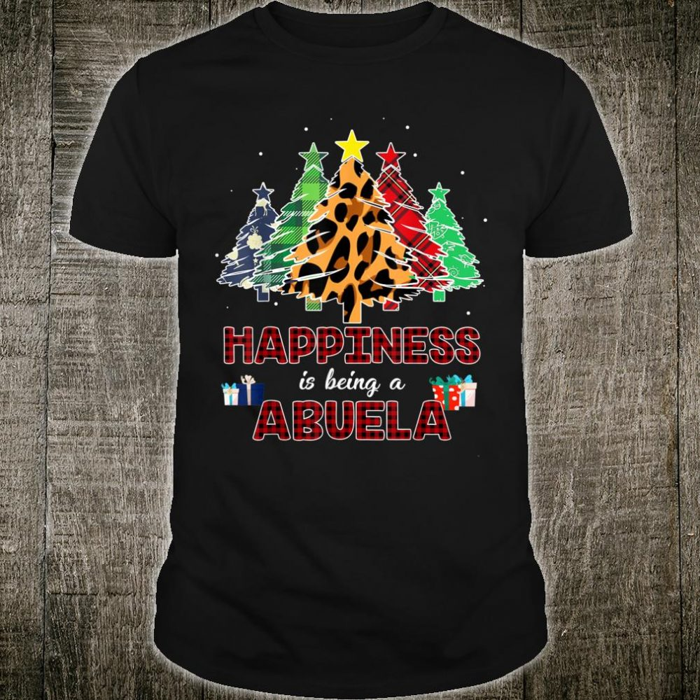 Funny Happiness Is Being Abuela Christmas Tree Shirt