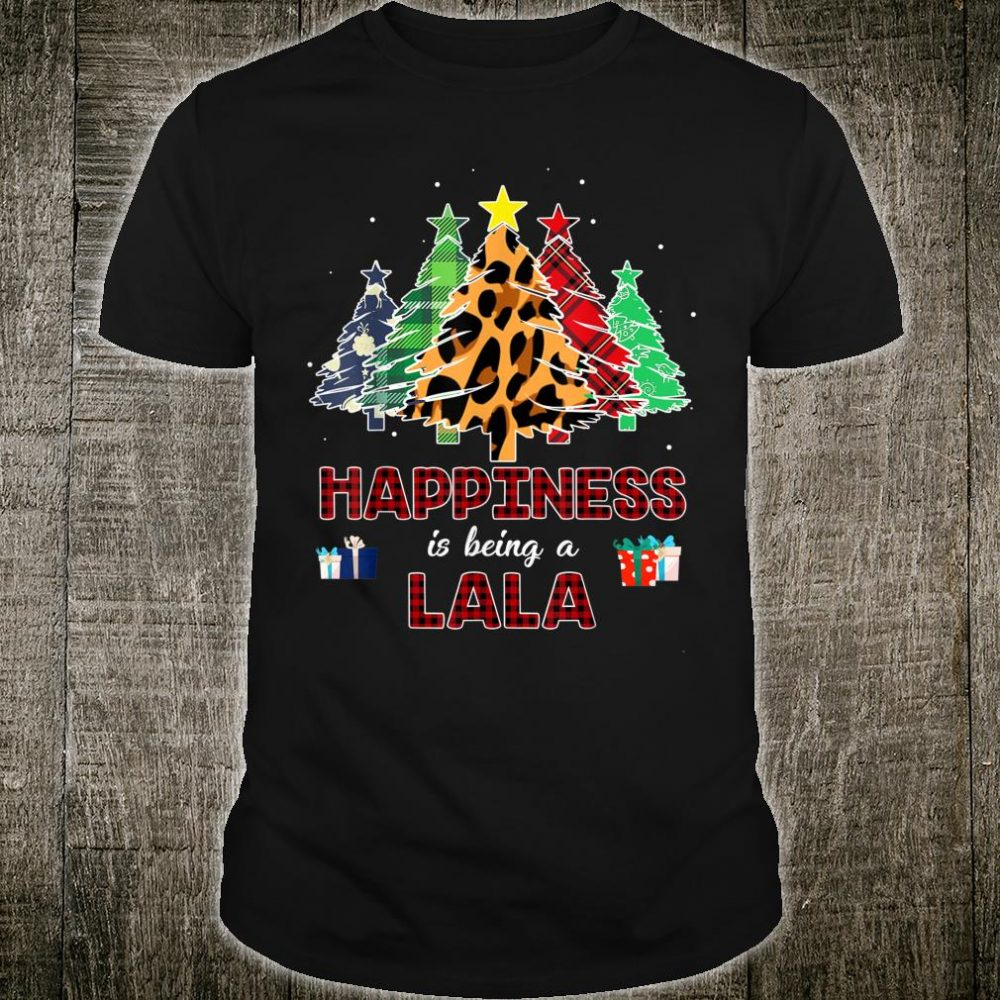 Funny Happiness Is Being Lala Christmas Tree Shirt