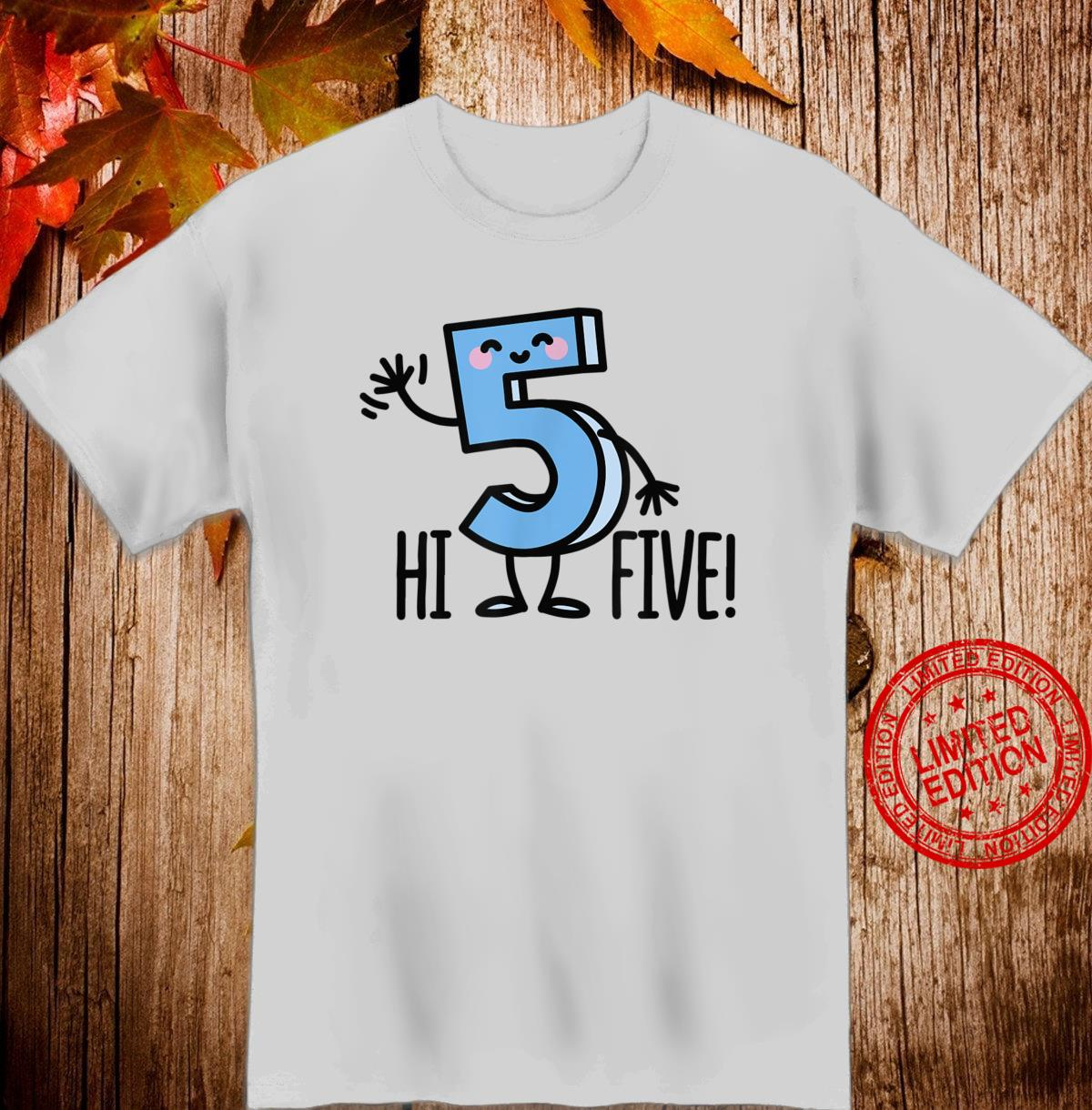 Funny Hi Five High hand Hello wave number 5 Shirt