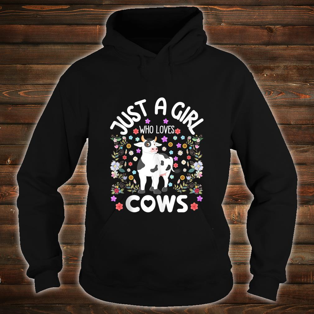 Just a Girl Who Loves Cows Cute Watercolor Boho Floral Shirt hoodie