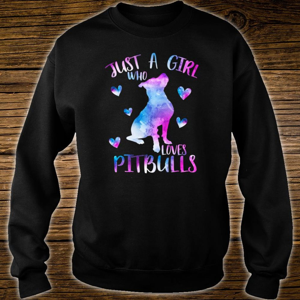 Just a Girl Who Loves Pitbulls Watercolor Pitbull Mom Shirt sweater