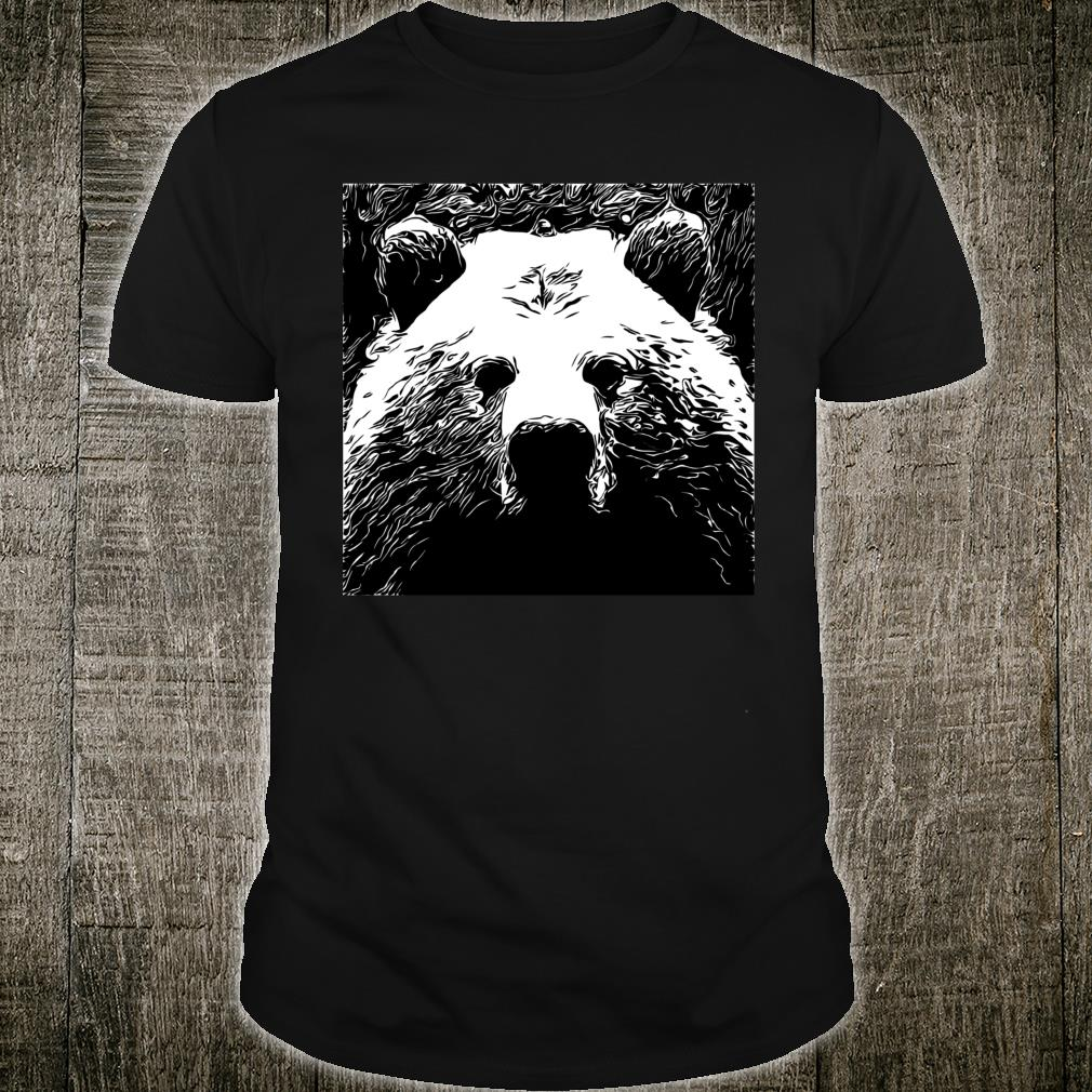 Large Grizzly Bear Head Shirt