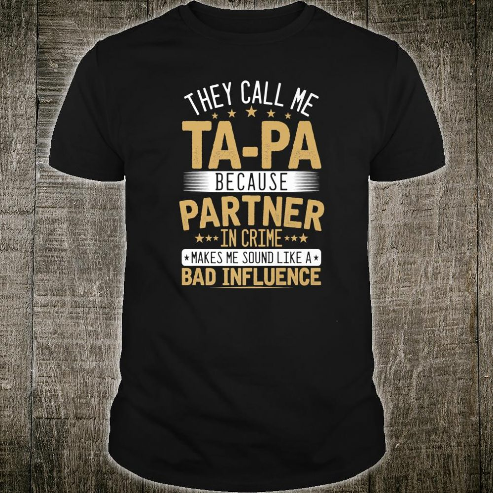 Mens They call me TAPA XmasFather's day Grandpa Shirt