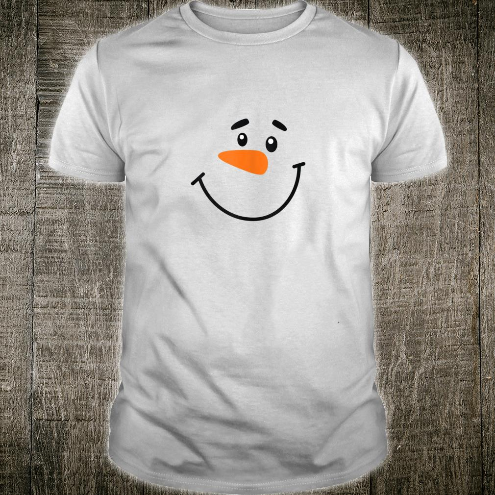Merry Christmas Snowman Funny Face Shirt