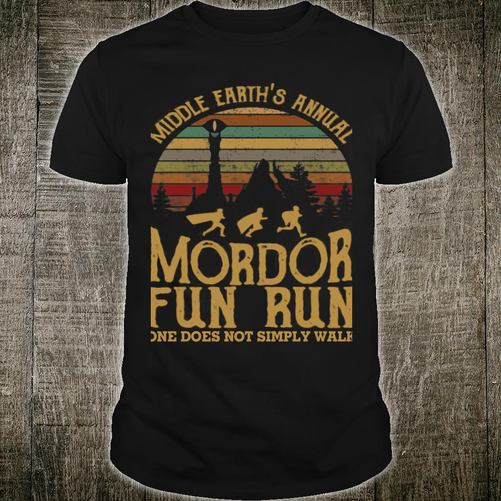 Middle earth's annual mordor fun run one does not simply walk shirt