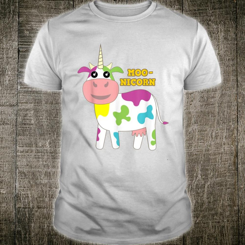 Moonicorn Cow Unicorn for and Adults Shirt