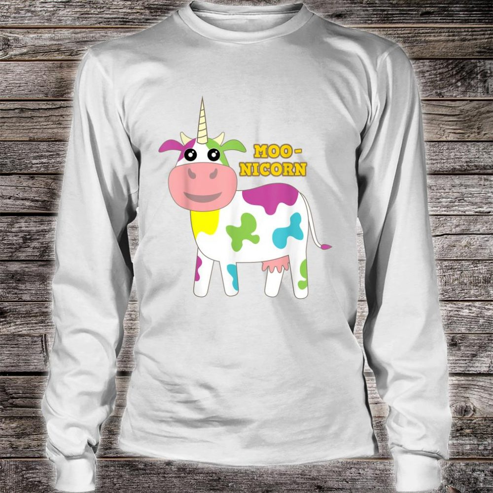 Moonicorn Cow Unicorn for and Adults Shirt long sleeved