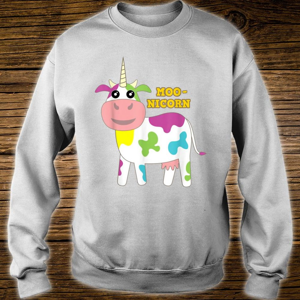 Moonicorn Cow Unicorn for and Adults Shirt sweater