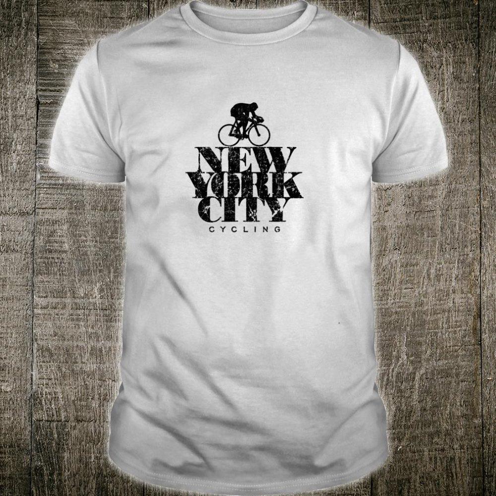 New York Cycling Black Cyclists Bike Shirt