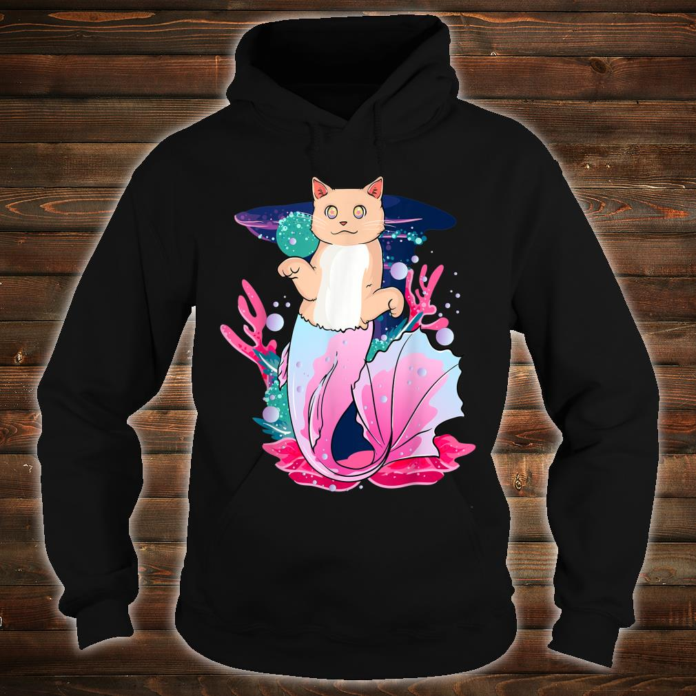 Purrmaid Cat Mermaid Colorful Rainbow Kitten Rave EDM Shirt hoodie