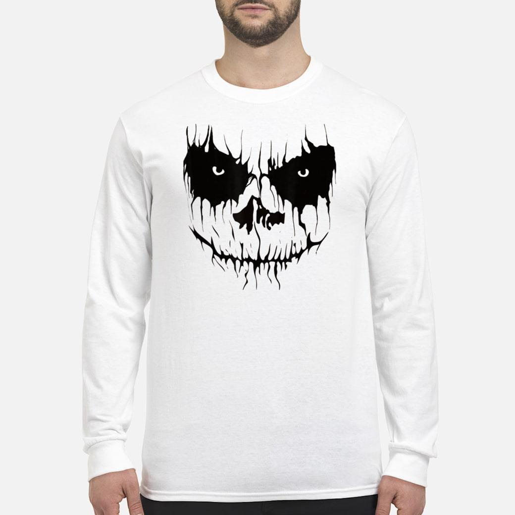 Scarry Halloween Pumpkin Face Shirt long sleeved