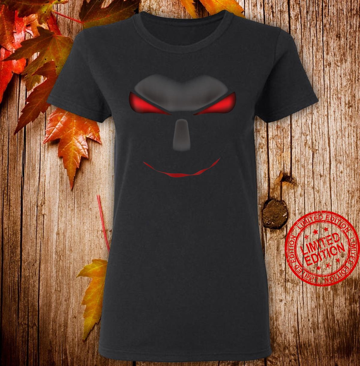 Scary Cool Halloween Mystery Face Monster Costume Shirt ladies tee