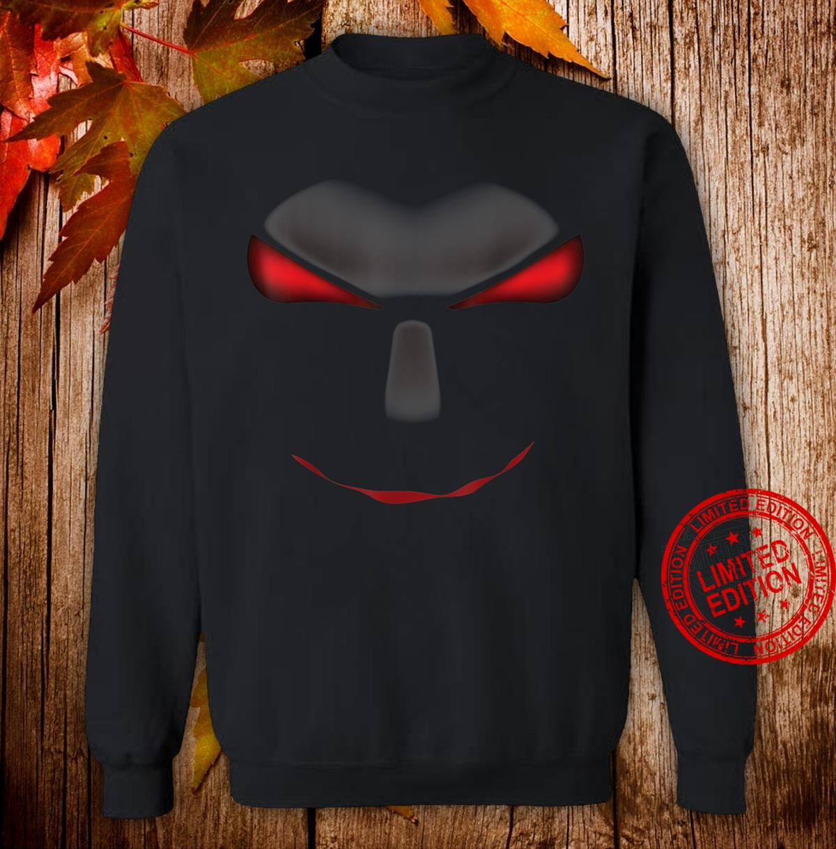Scary Cool Halloween Mystery Face Monster Costume Shirt sweater