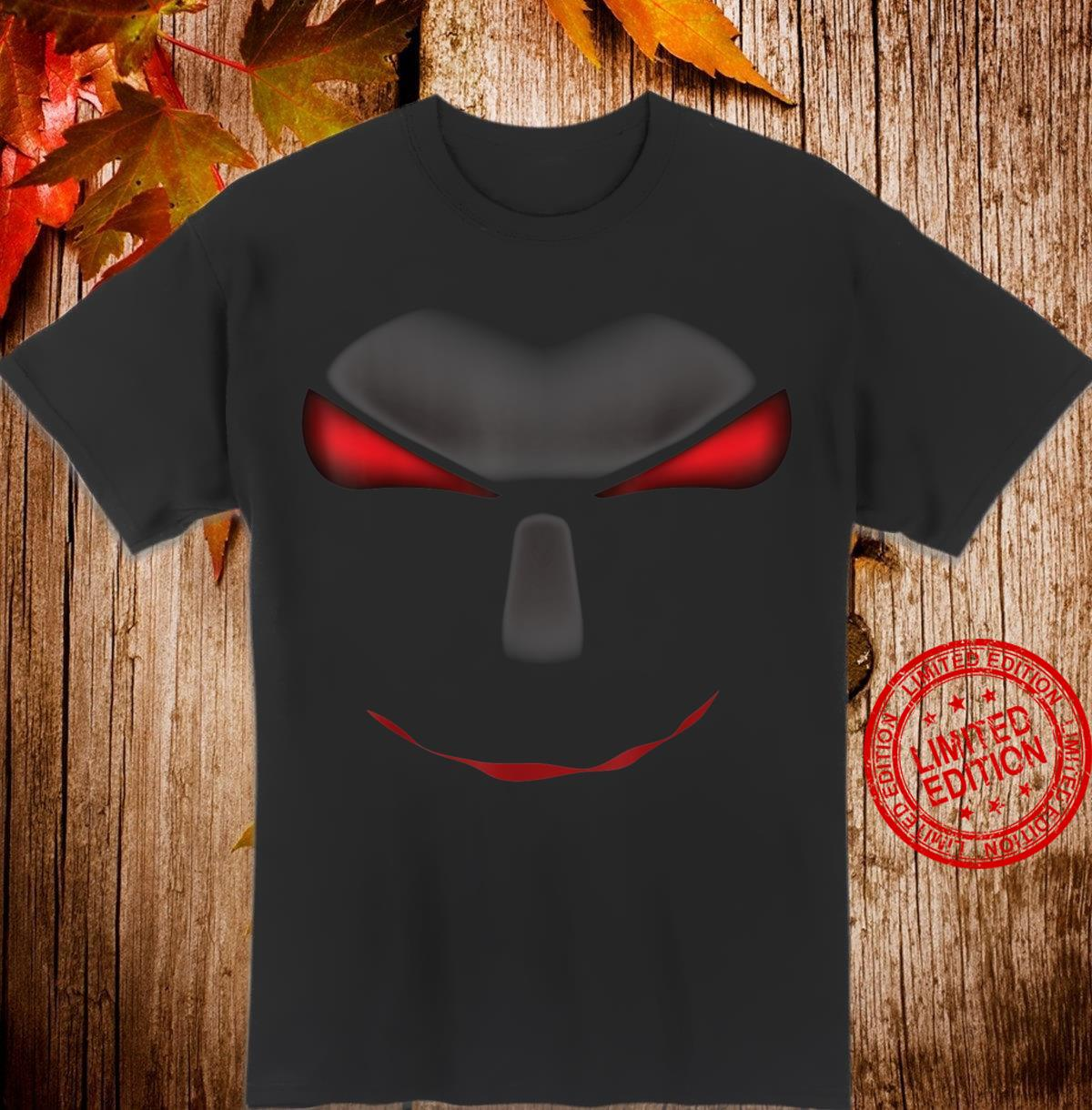 Scary Cool Halloween Mystery Face Monster Costume Shirt