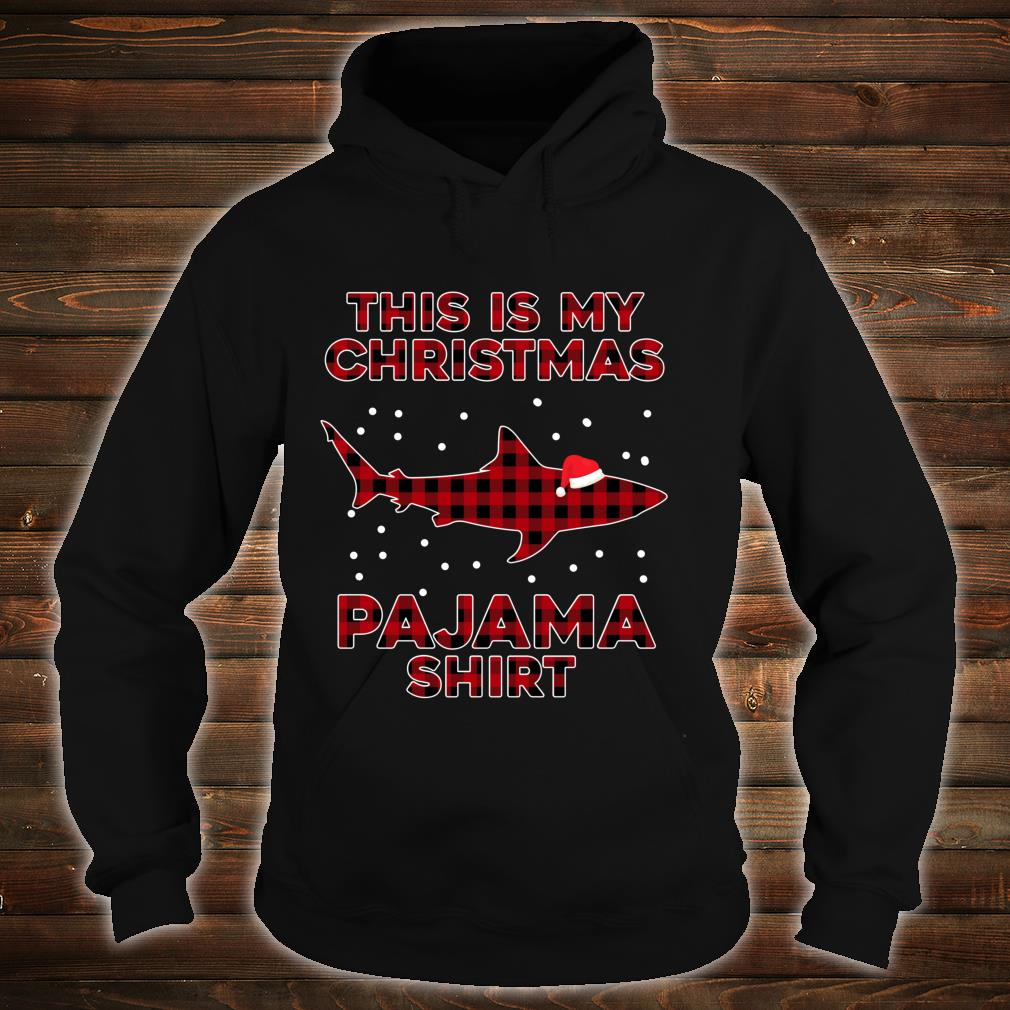 Shark Christmas Pajamas Red Plaid Buffalo Family Xmas Shirt hoodie