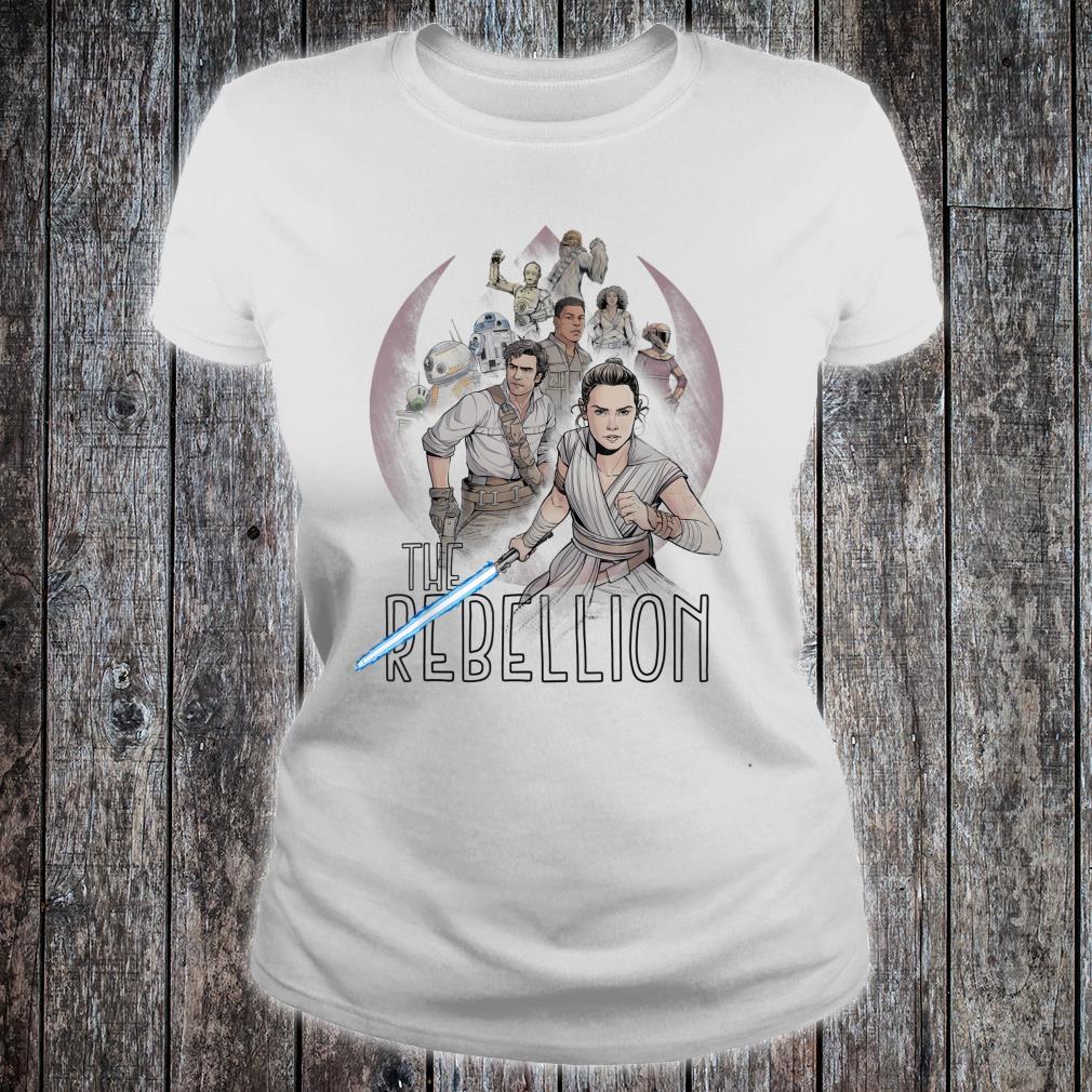 Star Wars The Rise of Skywalker The Rebellion Heroes Shirt ladies tee