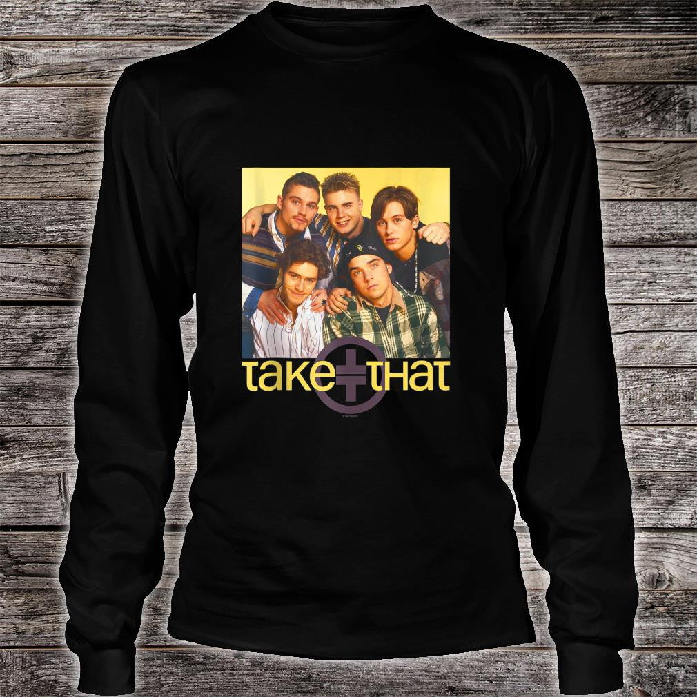 Take That Official Retro 90's Boyband Group Shot Shirt long sleeved